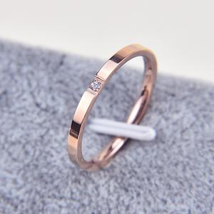 1 мм тонкое кольцо из титановой стали серебряного цвета для пары простое модное кольцо розового золота для женщин и мужчин мужские подарки