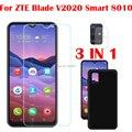 Мягкий чехол 3 в 1 + закаленное стекло для камеры для ZTE Blade V2020 Smart 8010 Защитное стекло для экрана для ZTE Blade V2020 Smart 8010