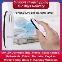 Portable UVC sterilizer lamp Mini USB Germicidal Lamp Kitchens Bathrooms disinfection Phone Travel Hotel Bactericidal