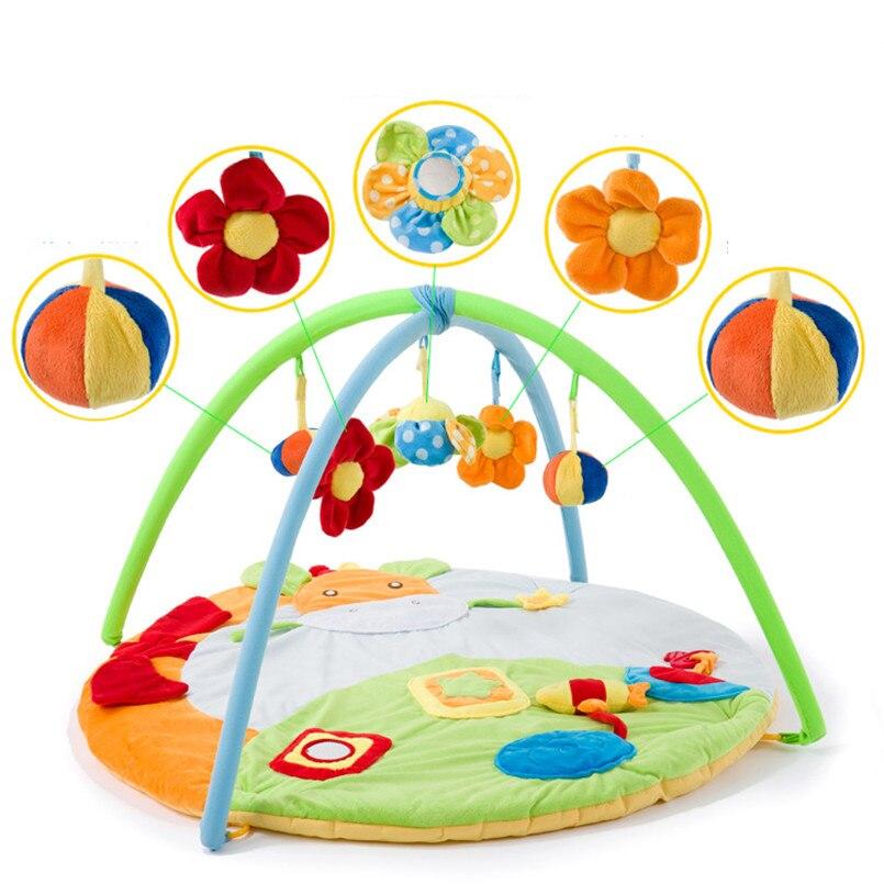 0-12 mois tapis d'activité bébé avec Musical doux Animal sensoriel bébé Gym ramper tapis de jeu jouets éducatifs pour enfants cadeau
