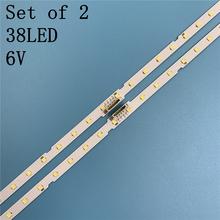 2 sztuk podświetlenie LED Strip dla Samsung UE49NU7100 UE49NU7102 UE49NU7140U UE49NU7670 UE49NU7120U UE49NU7170U UN49NU7100 UE49NU7300 tanie tanio CN (pochodzenie) UE49NU7300 UE49NU7140 UE49NU7100 UE49NU7140U UE49NU7100U