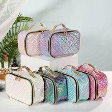 WULI SEVEN Multifunction travel Cosmetic Bag Neceser Women Makeup Toiletries Organizer Waterproof Female Storage Case