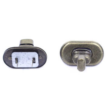 50Sets Switch Turn Twist Clasp Locks Buckle Bronze Tone For Handbag Craft Bag Purse Hardware Tool Bag DIY Finding 37mm