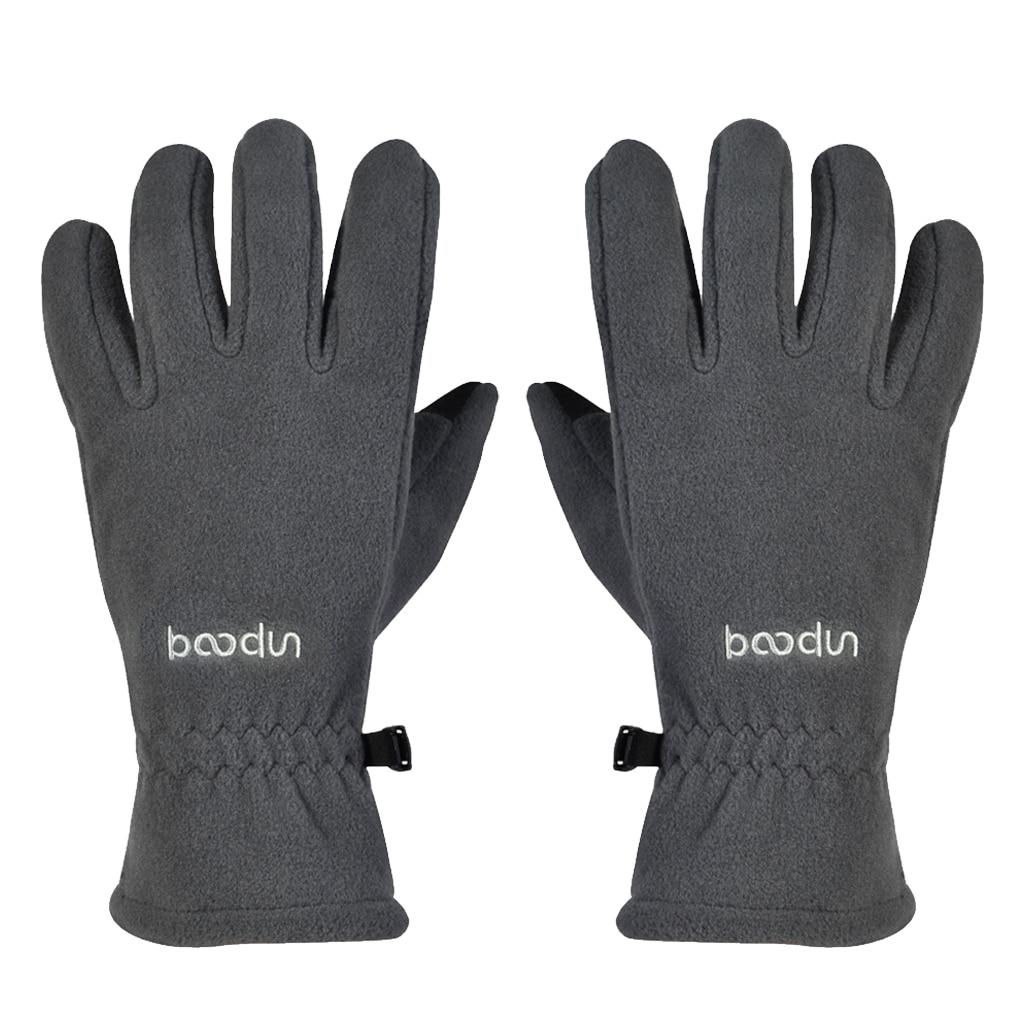 Touch Screen Cycling Gloves Winter Warm Bike Full Finger Gloves Polar Fleece Winter Outdoor SportsWindstopper Gloves