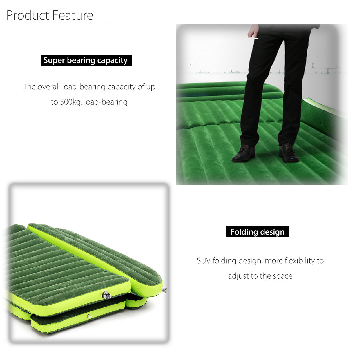 6x4 Ft SUV/Car Inflatable Mattress with Electric Pump 2