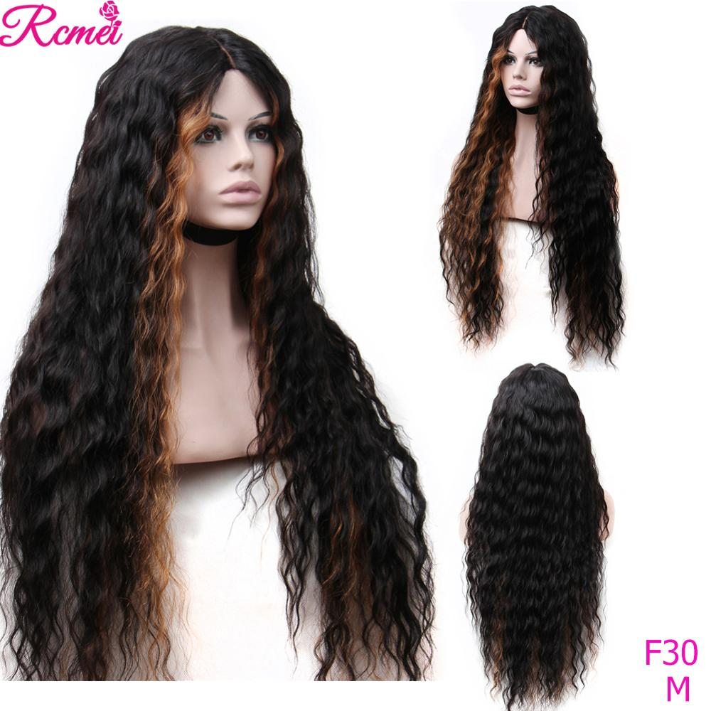 Ombre Color Lace Front  Human Hair Wigs 30 Inch Brazilian Water Wave Lace Part Wig Human Hair Wigs Remy Hair Glueless Lace Wigs