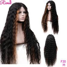 Ombre Color Lace Front Human Hair Wigs 30 Inch Brazilian Water Wave Lace
