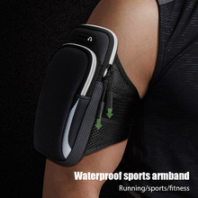 Arm Band Bag Universal for Mobile Phone with 6.53 inches Breathable Me