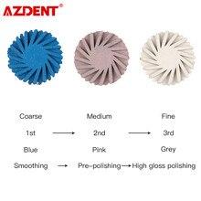 Azdent – kit de polissage Composite dentaire, système de diamant, disque RA, hygiène buccale, fraises à brosse flexible en spirale, 6 pièces/paquet