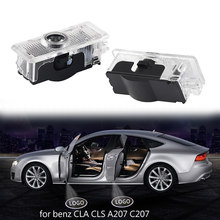 LISIDIC Car Door Lights for Mercedes Benz CLA CLS A207 C207 Door Logo Light Laser Projection Lamp luces led para auto(China)