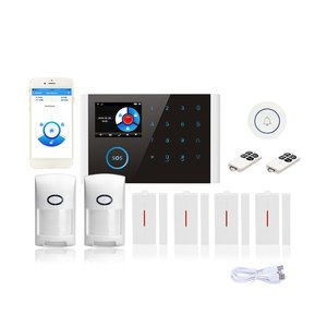 Cs108 Switchable Wireless Home Security Wifi Gsm Gprs Alarm System App Remote Control Rfid Card Arm Disarm|Alarm System Kits|   -