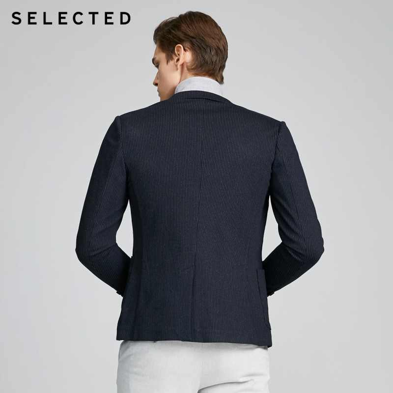Chọn Lọc Nam Slim Fit Sọc Dệt Kim Kinh Doanh Áo Khoác Blazer S   420108503
