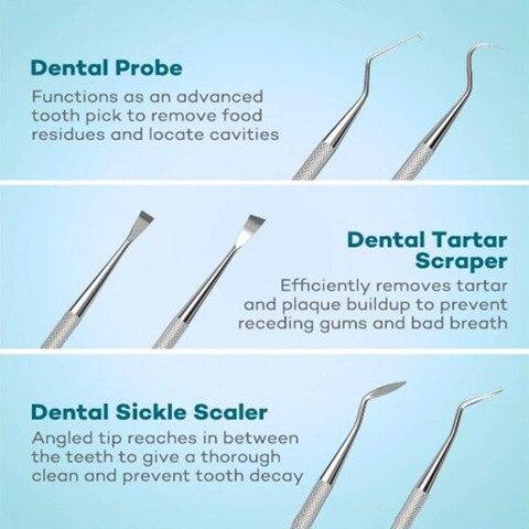 1 conjunto multi funcao dental kit aco