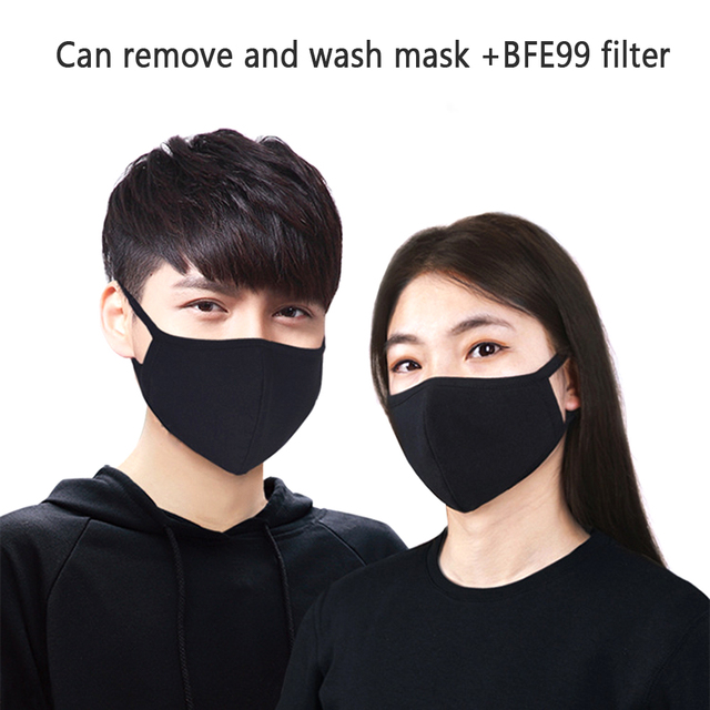 Nano-polyurethane Black Mouth Mask Anti Dust Mask Activated Carbon Windproof Mouth-muffle Bacteria Proof Flu Face Masks
