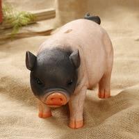 Home decoration super large capacity three color super cute pig piggy bank resin crafts ornaments