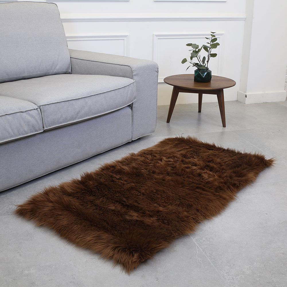 Laine tapis tapis sol moelleux tapis luxueux anti-dérapant chaud Rectangle multicolore 180X100cm maison chaise tapis chambre canapé - 2