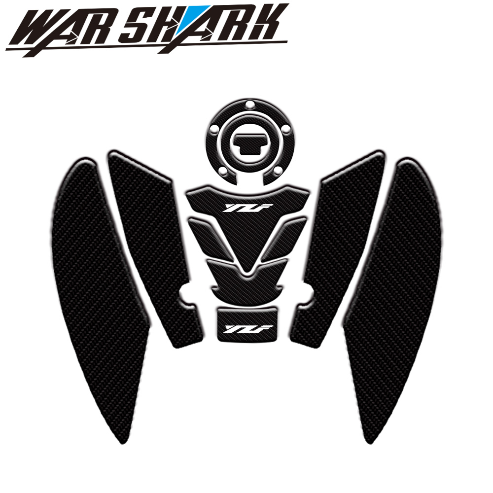 High Style  Motorcycle 3D Tank Pad Protective Decal Sticker For Yamaha YZF R6 YZFR6 2017 2018 2019