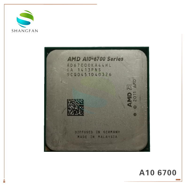 AMD CPU A10-6700 FM2 Quad-Core 65W Ad6700oka44hl-Socket A-Series