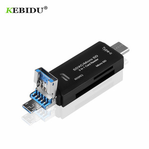 KEBIDU High Speed USB 3.0 Type C to SD Micro SD TF Adapter for laptop Accessories OTG Cardreader Smart Memory SD Card Reader