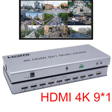 Switcher HDMI 4K HDMI 9x1 Quad multi-viewer 9 in 1 out Switch senza soluzione di continuità 9x1 Multi viewer immagine pipa convertitore divisore IR creen