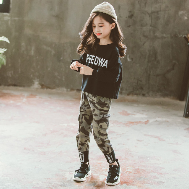 Girls Camouflage Outfit Set  2