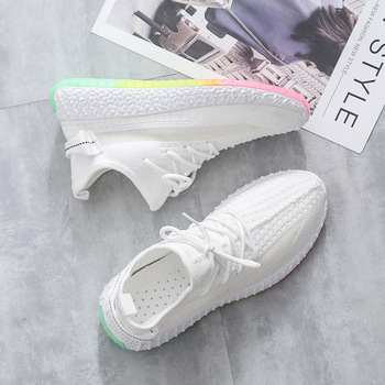 Women Sneakers 2020 Tenis Feminino Rainbow sole Casual sock Shoes Mesh Breathable running shoes 4h73