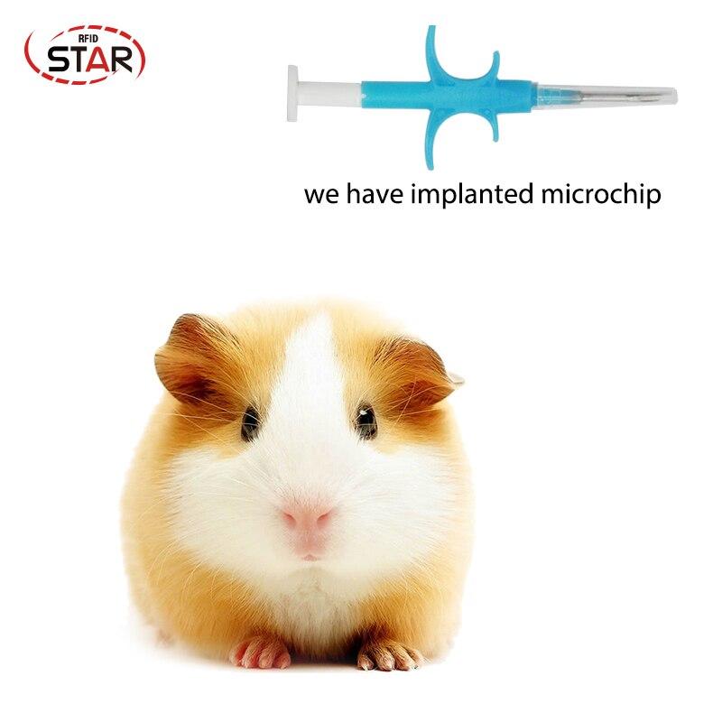 30pcs 2.12x12/1.4x8mm FDX-B ICAR Number ISO11784/5 RFID Implant Chip Syringe Animal Microchip Syringe For Pet Dog Cat Fish