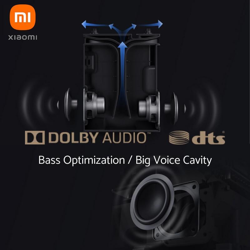 """Versão global xiaomi mijia projetor mini 120 """"hd completo 1080 p dlp 500ans dolby áudio android 9.0 mi conteúdo de tv dhl frete grátis-3"""