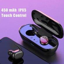 Y30 tws sem fio bluetooth fone de ouvido fones de ouvido 3d estéreo música de som in-ear fones de ouvido com caixa de carregamento para smartphones