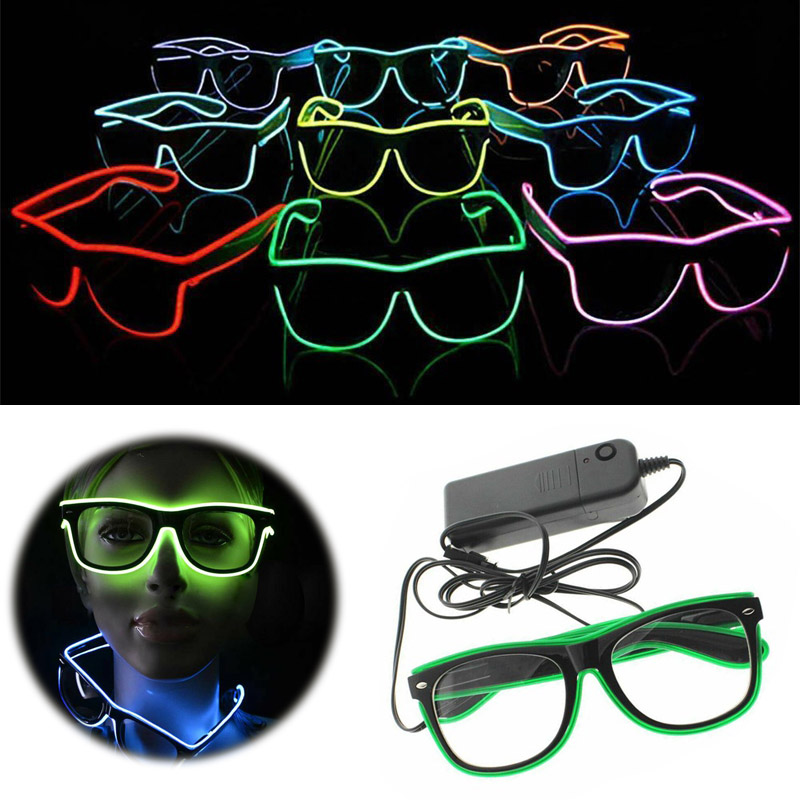 Flashing Glasses EL Wire LED Glasses Glowing Party Supplies Decorative Lighting Novelty Gift Light Festival Halloween Party Glow