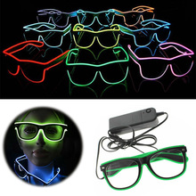 Flashing Glasses EL Wire LED Glowing Party Supplies Decorative Lighting Novelty Gift Light Festival Halloween Glow