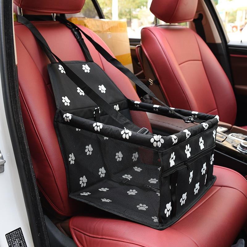 Travel Mesh Hanging Bags Car Seat Cover Fold Pet Dog Car Carrier Bag Pad Waterproof Dog Seat Basket Safe Carry Cat Puppy Bag