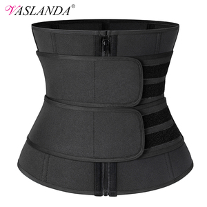 Steel Boned Waist Corset Trainer Sauna Sweat Sport Girdle Cintas Modeladora Women Weight Loss Lumbar Shaper Workout Trimmer Belt(China)
