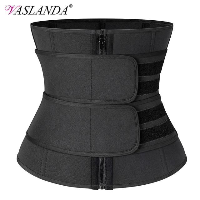 Steel Boned Waist Corset Trainer Sauna Sweat Sport Girdle Cintas Modeladora Women Weight Loss Lumbar Shaper Workout Trimmer Belt