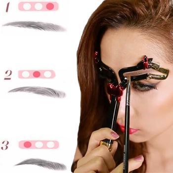 Reusable Adjustable Eyebrow Ruler Makeup Shaping Position Measure Tools Eyebrow Stencils Eyebrow Shaping Template Beauty Tool