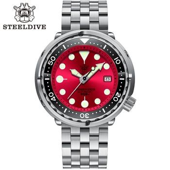 Steeldive SD1975 Black Dial Ceramic bezel 30ATM 300m Waterproof Stainless Steel NH35 Tuna Mens Dive Watch 5