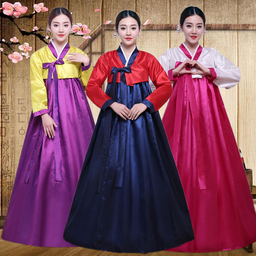 Traditional Korean Clothing Hanbok Dress For Women Ancient Palace Robe V-neck National Performance Kimono Yukata Asien Style