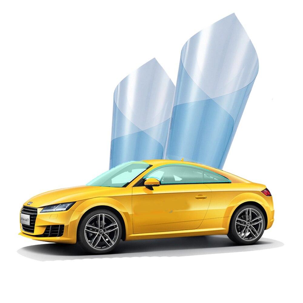 AUMOHALL 0.5*3m Light Blue VLT 70% Window Tinting Film Sun Protection Car Side Window Tint Solar Shade Foils