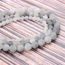 Hot?Sale?Natural?Stone?Frosted Cloud Crystal15.5?Pick?Size?4/6/8/10/12mm?fit?Diy?Charms?Beads?Jewelry?Making?Accessories