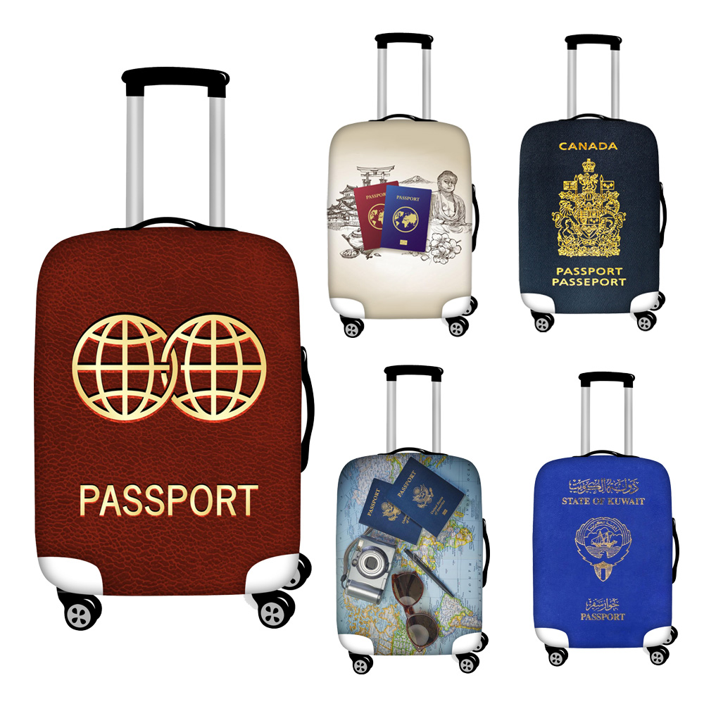 Nopersonality Elastic Passport Travel Luggage Covers Waterproof S/M/L/XL Trolley Case Cover For 18''-32'' Suitcase Cover Bag