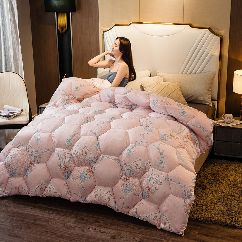 CF 4D Luxury Home Hotel Down Duvet Very Warm Winter Thick Blanket/Silk Down Quilt Soft Duvet Quilt Super King Sizes Comforter