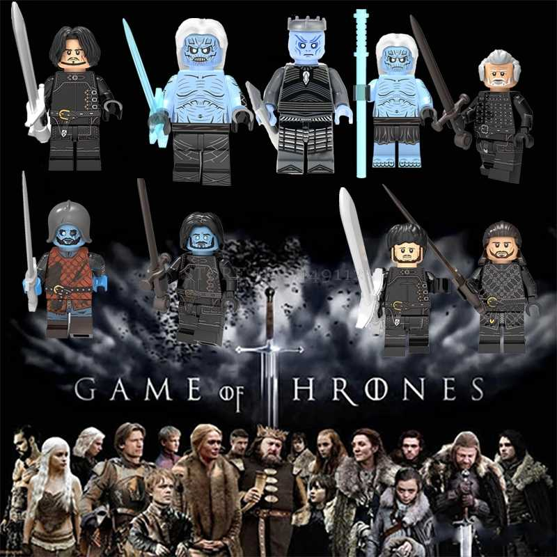 Blocks Game of Thrones Season 8 Figure Night King Daenerys Arya Star Jon Snow Varys Jaime Ice And Fire Locks Toys Rings Soldier