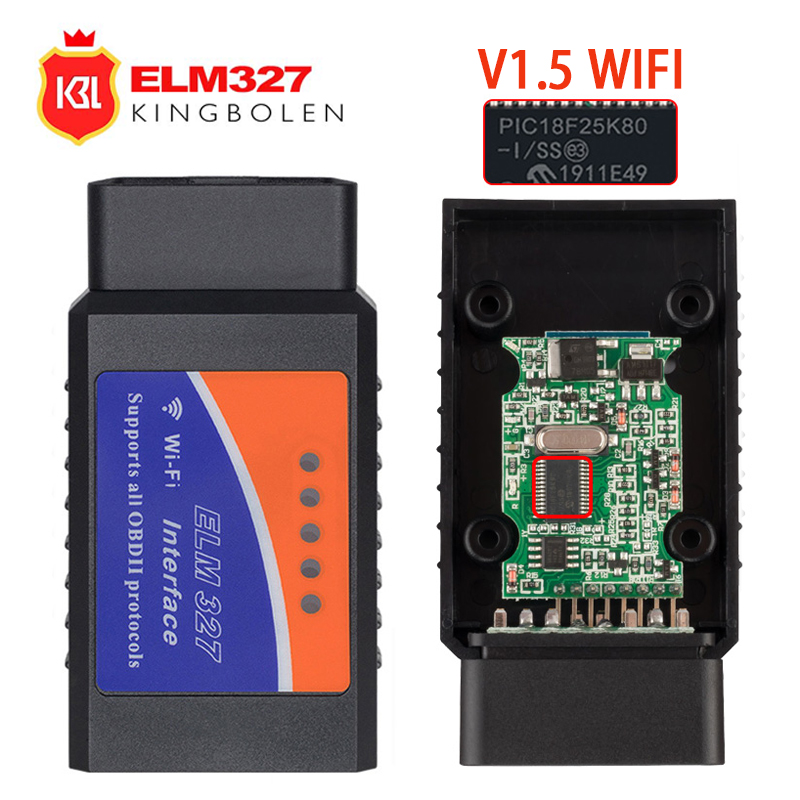 ELM327 V1.5 Wifi OBD II Auto Scanner Elm 327 WIFI V1.5 OBDII OBD2 Code Reader For Android PC IPhone IPad Car Diagnostic Tool