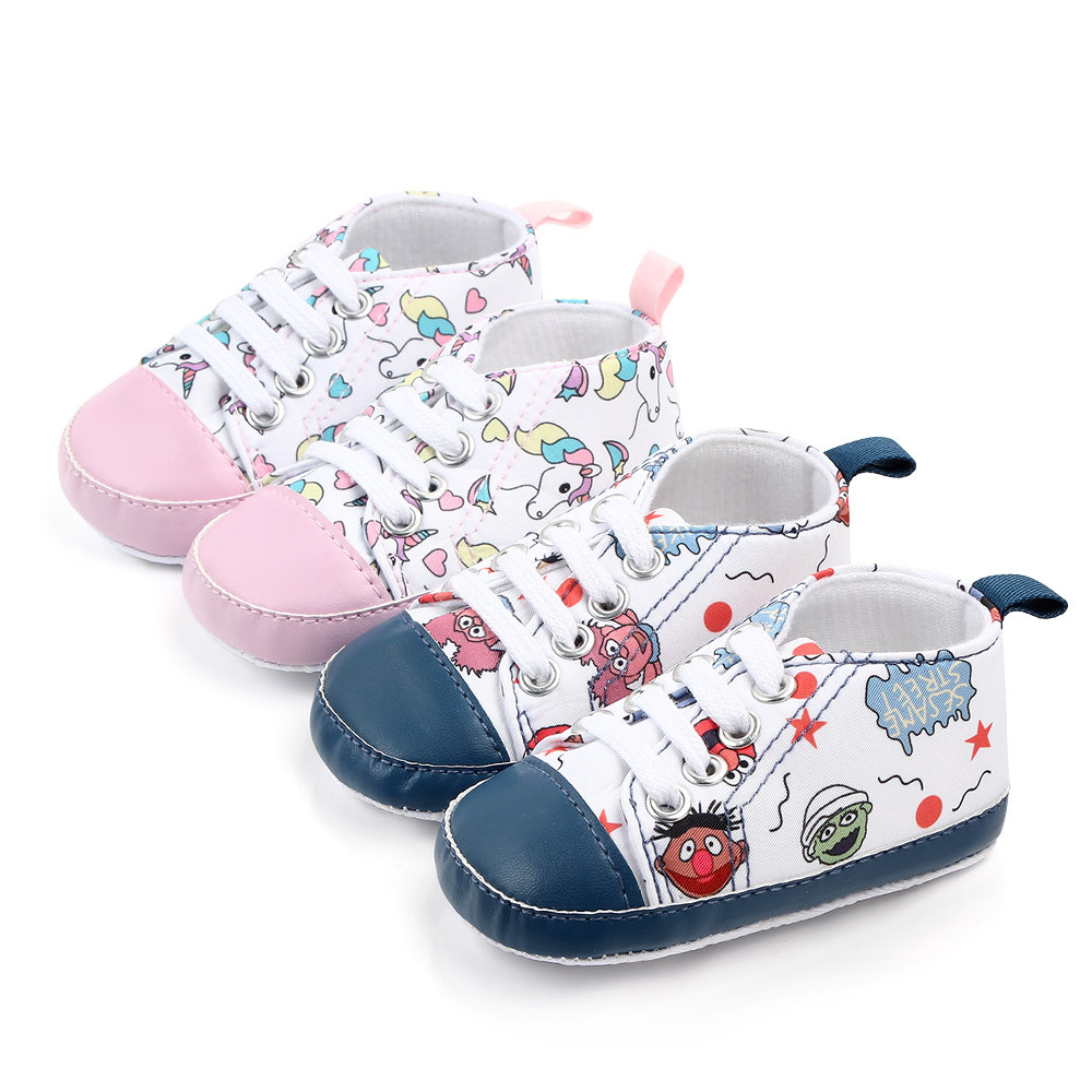 Newborn Baby Boy Shoes Fashion Canvas Baby Girl Shoes Cartoon Cute Infant Shoes Girls Baby Moccasins