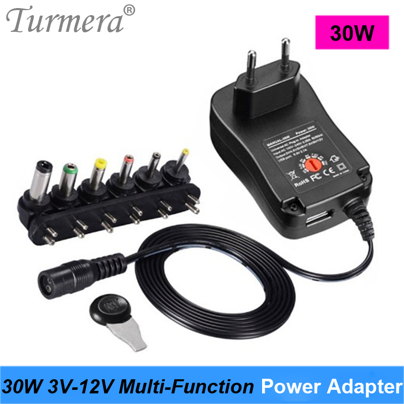 <font><b>Power</b></font> <font><b>Adapter</b></font> Universal 3V 4.5V <font><b>6V</b></font> 9V 12V 100V-<font><b>220V</b></font> <font><b>AC</b></font> <font><b>to</b></font> <font><b>DC</b></font> <font><b>Power</b></font> Supply Adjustable Voltage for LED lamp and TV Speaker Turmera image