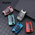 Чехол для автомобильных ключей, из углеродного волокна, ТПУ, для Kia Ceed, Picanto, Sportage, для hyundai i30, ix35