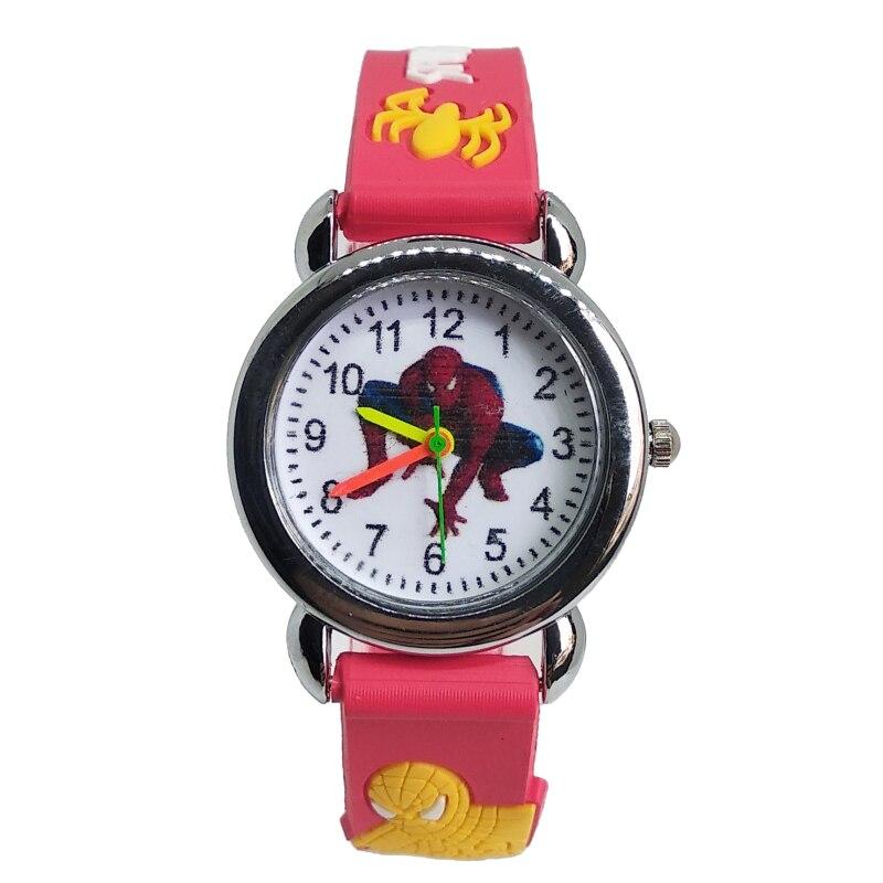 Super Hero Spiderman Watch Children Men Watch Kids Watches Boys Fashion Quartz Wristwatches Soft Silicone Students Girls Clock