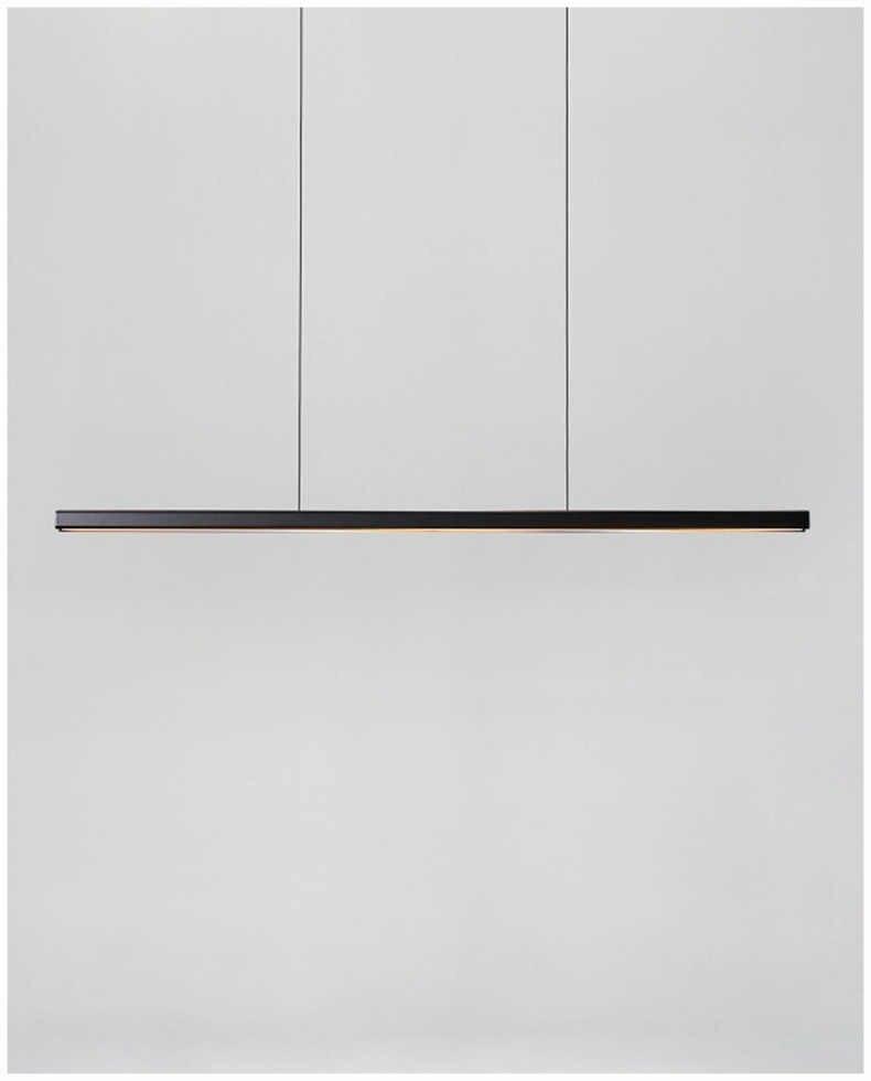 Nordic minimalista lustre tira luzes do escritório moderno e minimalista restaurante preto decoração estúdio led barra lâmpada de mesa