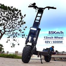 Электроскутер flj 13 дюймов 6000 Вт/60 в 85 км/ч 90