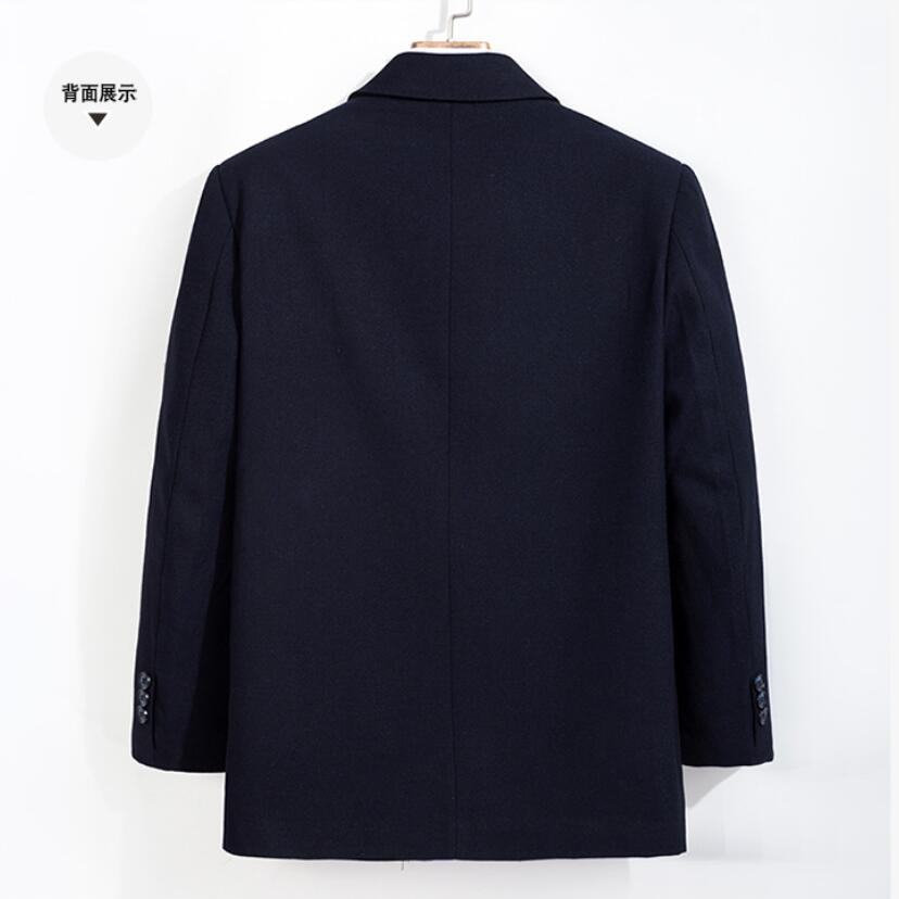 Nieuwe grote maat 8XL 7XL Jas Mannen Windscherm Winter Fashion Mens Overjas Wol Kwaliteit Dikke Warme Trenchcoat Mannelijke Wollen jas - 2